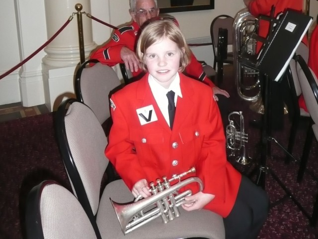 Gemma, first outing with Frankston City Band